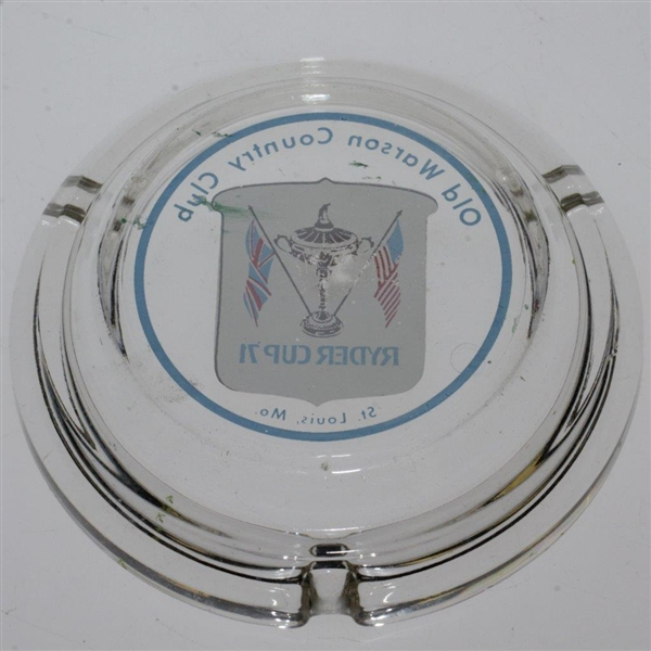 1971 Ryder Cup at Old Warson Country Club Glass Ashtray