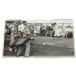 1928 US Open Wire Photo of Bobby Jones & Johnny Farrell at Olympia Fields