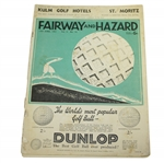 1931 Fairway & Hazard Magazine from June 13th w/ Dunlop Advertisement