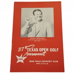 1964 Texas Open at Oak Hills CC Program Feat. Hometown Golfer Jimmy Demaret