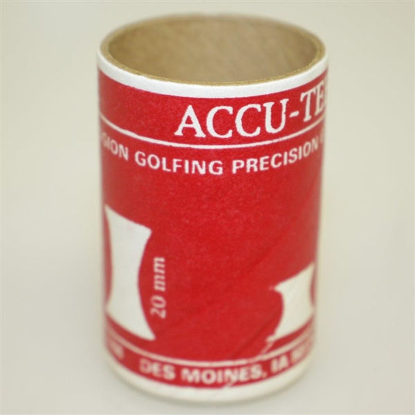 Set of Accu-Tee Rubber Tees in Original Cylinder Box - Very Good Condition