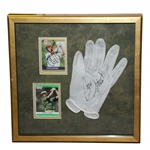 Payne Stewart Signed Glove & Cards Framed Presentation JSA Full #BB12600