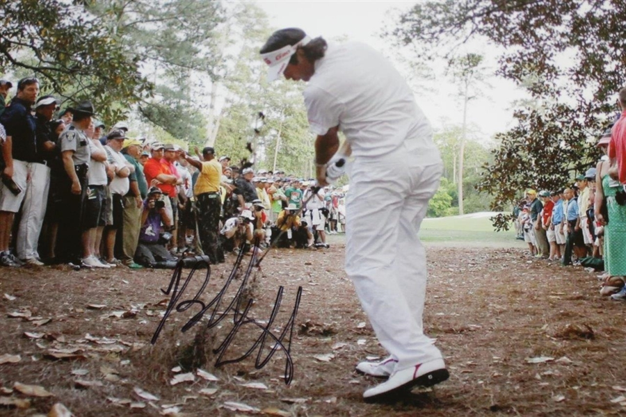 Bubba Watson Signed Spectacular 'Recovery Shot' to Win 2012 Masters 11x14 Photo JSA ALOA