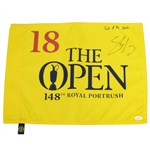 "Shane Lowry Signed & Insc. ""Luck of the Irish"" 2019 Open Championship Portrush Flag JSA #EE39052"