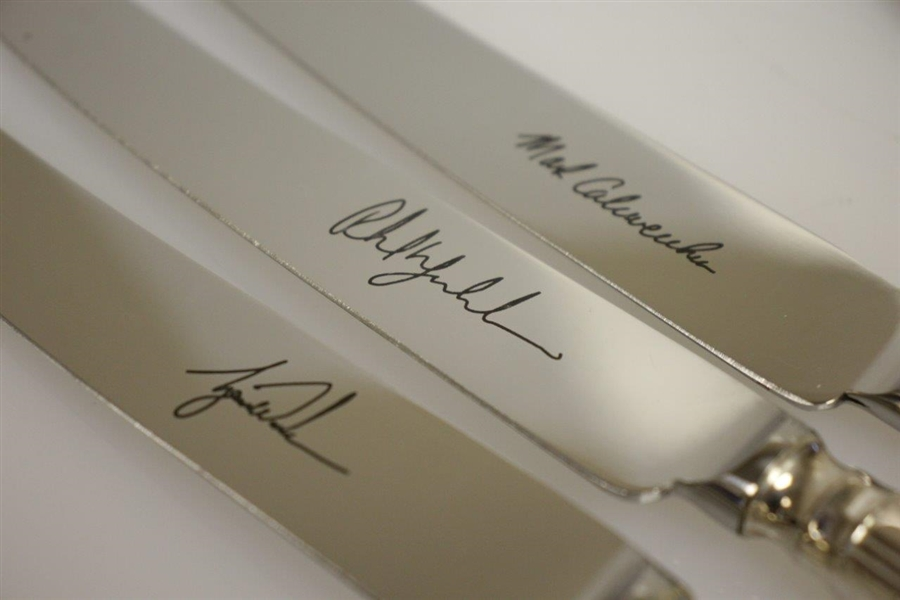 Mark Calcavecchia's 2002 Ryder Cup Knife Set Players' Gift - Arthur Price of England