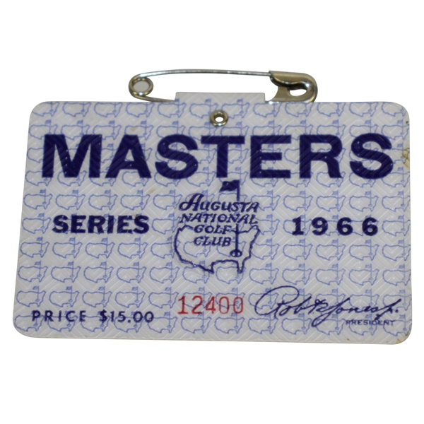1966 Masters Tournament Series Badge #12400 - Jack Nicklaus Winner