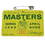 1969 Masters Tournament Series Badge #2427 - George Archer Winner