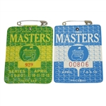 1980 & 1983 Masters Tournament Series Badges - Seve Ballesteros Victories