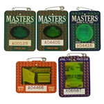 1991-1994 Masters Tournament Series Badges - Woosnam, Couples, Langer & Olazabal
