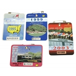 1995, 1998, 1999 & 2003 Masters Tournament Series Badges - Crenshaw, O Meara, Olazabal, & Weir