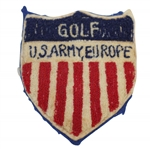 Vintage US Army, Europe Golf Shield Bullion Badge - Undated
