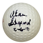 "Astronaut Alan Shepard Signed Polara Golf Ball w/ Moon Shot Date Inscription ""2-6-71"" JSA ALOA"