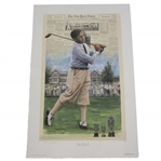 Bobby Jones Slam Third Leg at Interlachen Deluxe Offset Lithograph 324/650 by Douglas B London