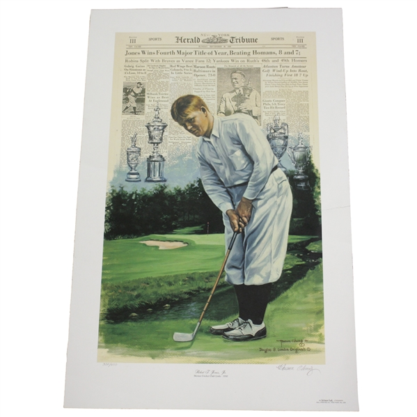 Bobby Jones Slam Fourth Leg at Merion Deluxe Offset Lithograph 324/650 by Douglas B London