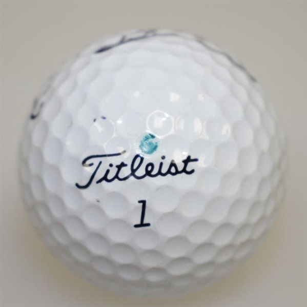 Sergio Garcia Signed Early Personal Used Titleist Professional 100 Ball JSA ALOA