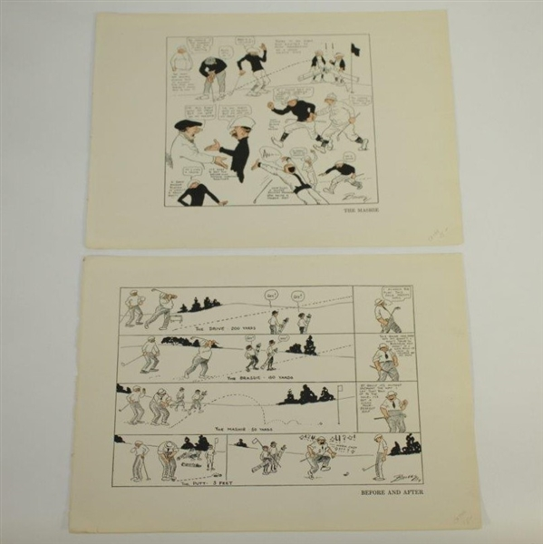 Vintage Golf Comic Strip Prints from Cartoonist Bailey - Set of 8