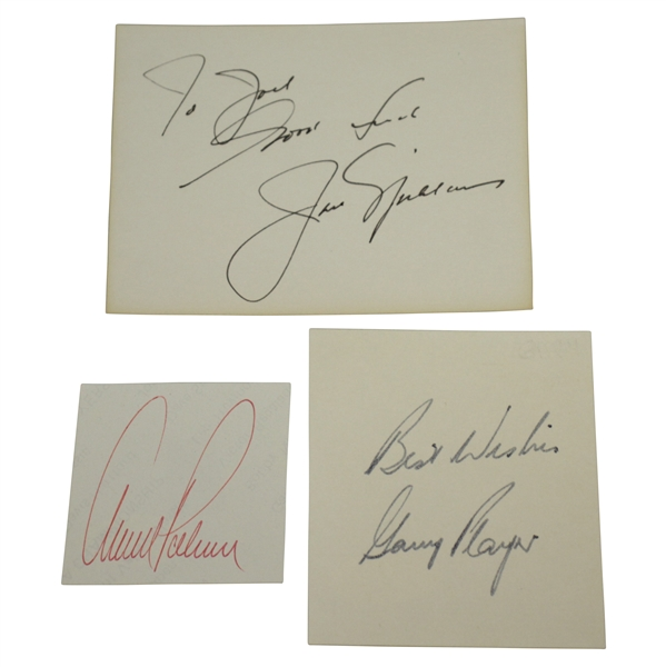 The Big 3 Time-Period Signatures on Cards - Palmer, Nicklaus & Player JSA Certs