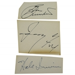 President Gerald Ford, Ben Crenshaw & Hale Irwin Signed Cards JSA Certs