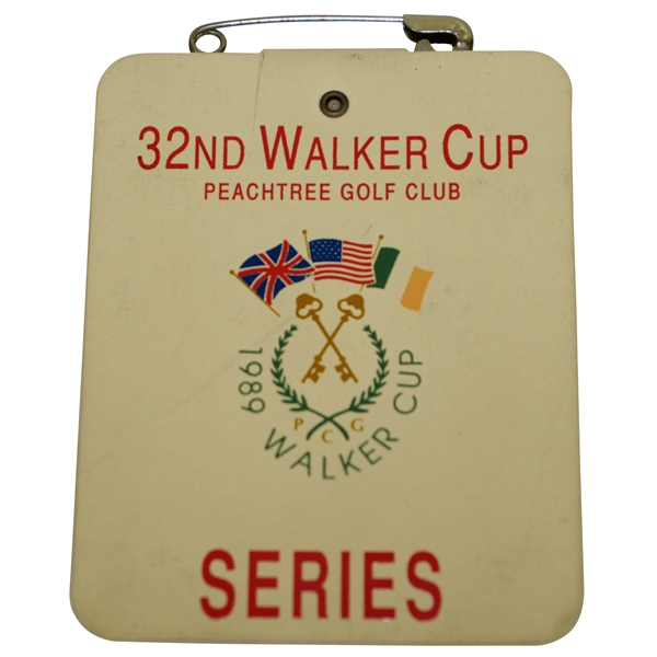 1989 Walker Cup at Peachtree Golf Club Series Badge - Phil Mickelson