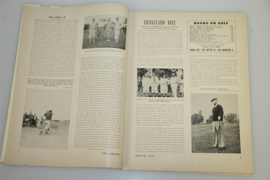1953 'The Golfer' Magazine Featuring Bobby Jones Framed Painting