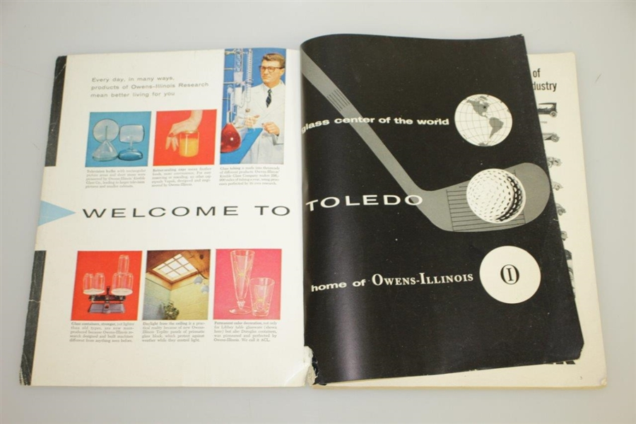 1957 US Open at Inverness Club Program - Dick Mayer Winner