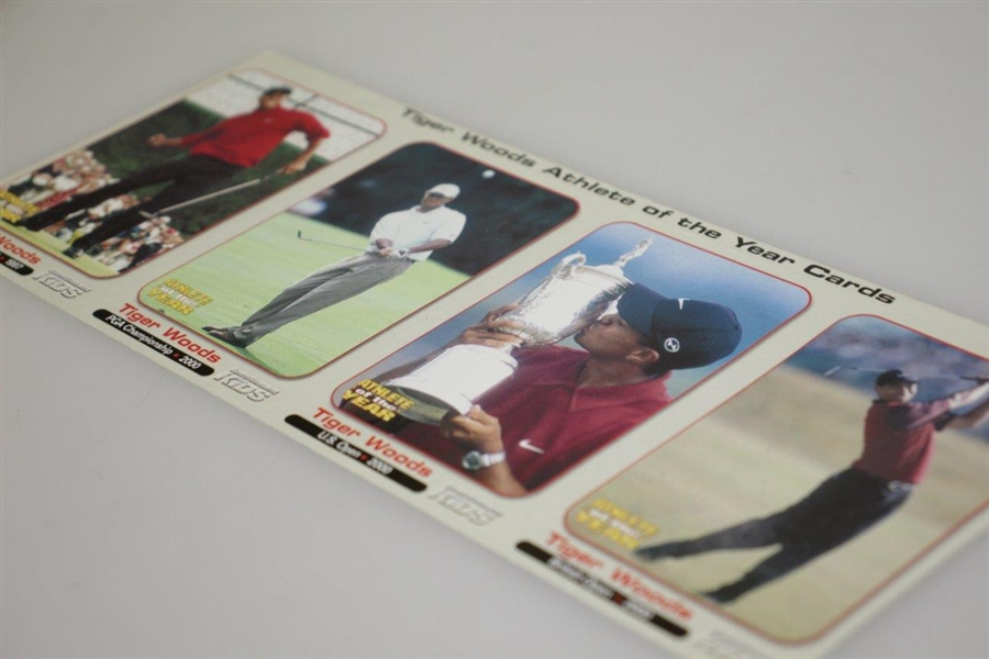 2000 Tiger Slam Sports Illustrated Uncut Card Sheet