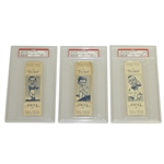 1949 Turf Cigarette Cards of Rees, King & Burton PSA Graded and Encapsulated