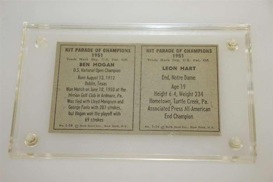 1961 Ben Hogan Hit Parade of Champions Card w/ Trophies