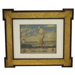 Lytham St Annes Lady Golfer - Sea Breezes & Sunshine Framed Advertising Print