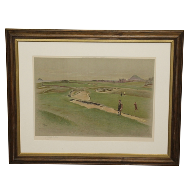 Eyre & Spottswoode Ltd Links Landscape Signed by Artist Cecil Aldin Framed Print