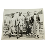 1941 US Open at Colonial Demaret, Sarazen & Ghezzi w/ Champion Wood Wire Photo