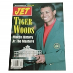 1997 JET Tiger Woods w/ 1st Masters Trophy & Green Jacket Magazine - No Label