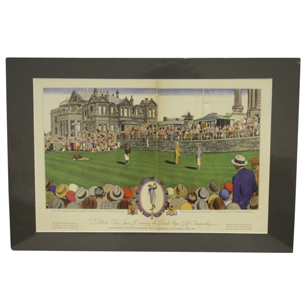 1930 Currier & Ives Robert T. Jones Jr Wins British Open at St. Andrews - Matted