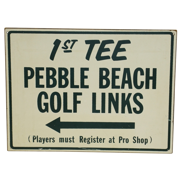 Pebble Beach Golf Links '1st Tee' Wooden Sign
