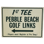 Pebble Beach Golf Links 1st Tee Wooden Sign