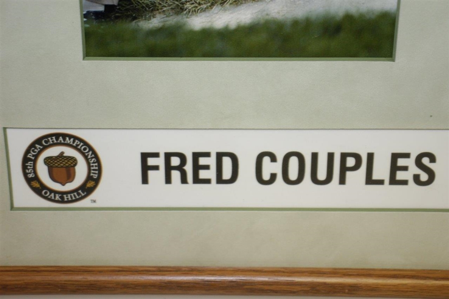 Fred Couples' Locker Room Nameplate From 2003 PGA Championship at Oak Hill
