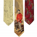 Old-Time Golfer Graphic Dress Ties Set