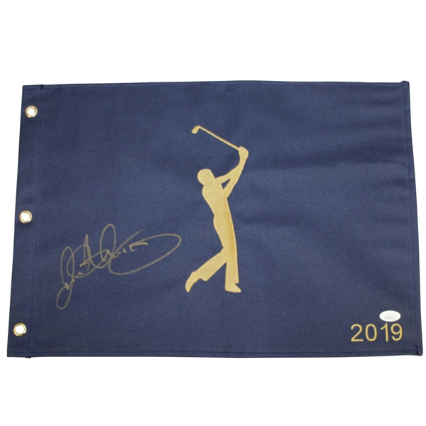 Rory McIlroy Signed 2019 Players Championship Limited Ed Royal Blue Dated Flag JSA #DD31645