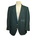 Gary Player Signed & Inscribed Years Green Jacket JSA ALOA