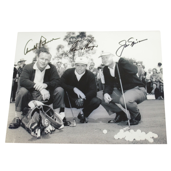Palmer, Nicklaus, & Player 'Big Three' Signed 8x10 Early Pose Photo JSA ALOA