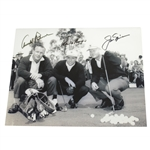 Palmer, Nicklaus, & Player Big Three Signed 8x10 Early Pose Photo JSA ALOA