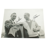 Arnold Palmer & Jack Nicklaus Signed 1965 Masters Green Jacket 8x10 Photo JSA ALOA