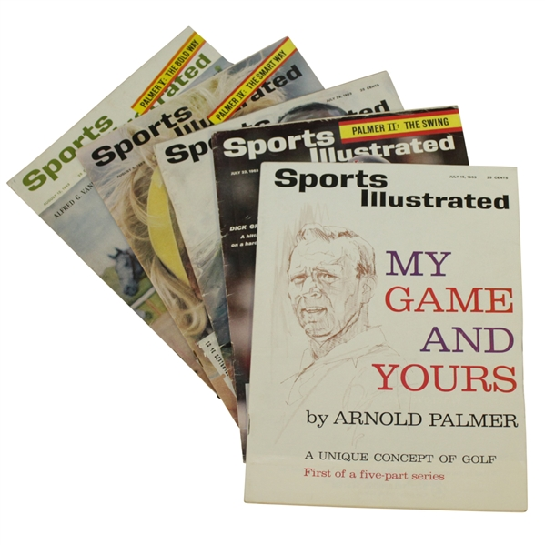 Arnold Palmer My Game & Yours 1963 Sports Illustrated Magazines Set of Five Lessons