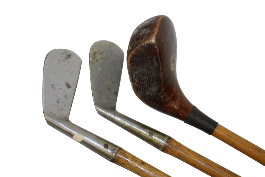 Burke Midget Irons & Wood Set in Matching Canvas Tan Bag