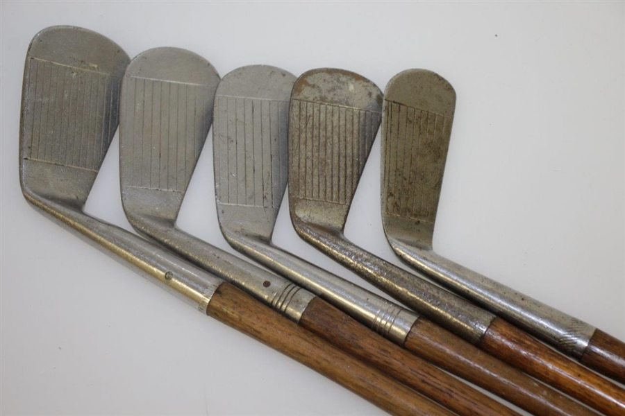 Burke Stainless Steel Irons Stamped Newark, Ohio - Five in Total