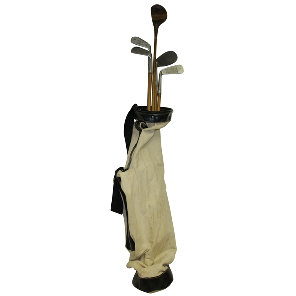 St Regis Two Star Irons w/ Straight Eight Great Lakes Wood in Canvas Bag - Five in Total