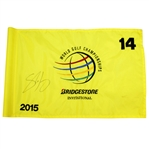 Shane Lowry Signed 2015 World Golf Championships Bridgestone Flown Flag-1st PGA Win JSA ALOA