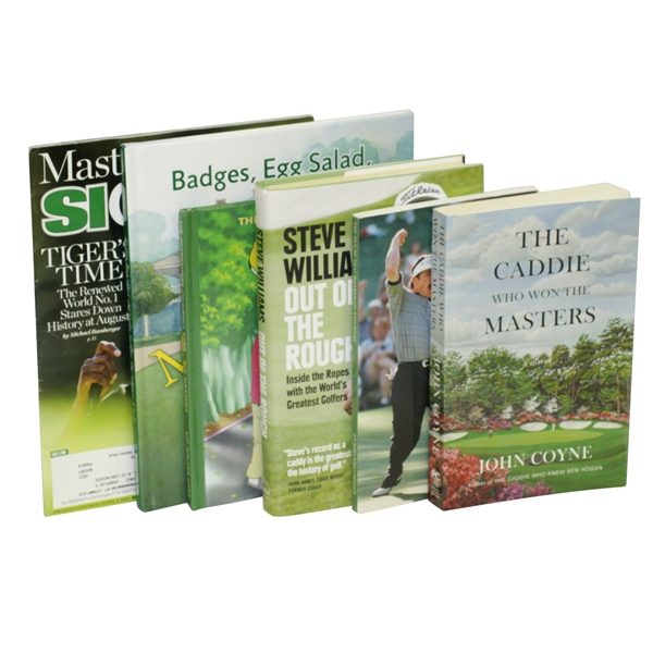 Masters Tournament Augusta National Fiction Grouping of Six Publications
