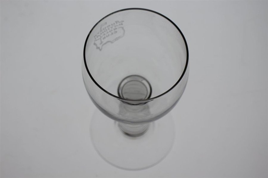 Augusta National Golf Club Classic Etched Ribbed Stem Wine Glass