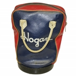 Hogan Brand Leather Shag Bag of Red, White & Blue - Classic Vintage Look
